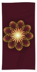 Fire Flower Mandala Beach Sheet