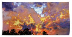 Fire In The Sky Beach Towel by Craig T Burgwardt