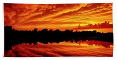 Fire In The Sky Beach Sheet by Jason Politte