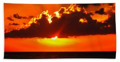 Beach Towel featuring the photograph Fire In The Sky by Patti Whitten