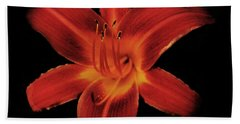 Fire Lily Beach Towel