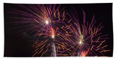Fire Works Beach Towel