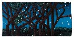 Beach Sheet featuring the painting Fireflies by Cheryl Bailey