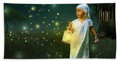 Fireflies Beach Towel
