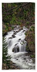 Firehole River Waterfall Yellowstone Np Beach Towel