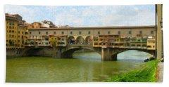 Firenze Bridge Itl2153 Beach Towel