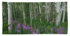 Fireweed And Aspen Beach Sheet