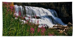 Fireweed Blooms Along The Banks Of Granite Creek Wyoming Beach Towel
