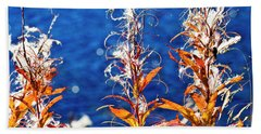 Beach Towel featuring the photograph Fireweed Flower by Heiko Koehrer-Wagner