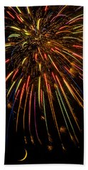 Firework Indian Headdress Beach Towel