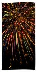 Firework Indian Headdress Beach Sheet