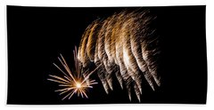 Beach Sheet featuring the photograph Fireworks 1 by Susan  McMenamin