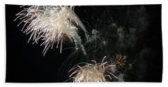 Beach Sheet featuring the photograph Fireworks 3 by Susan  McMenamin