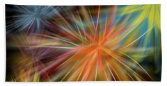 Beach Sheet featuring the digital art Fireworks by Christine Fournier