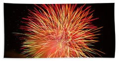 Beach Towel featuring the photograph Fireworks  by Michael Porchik