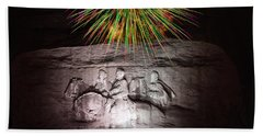 Fireworks Over Stone Mountain Beach Towel