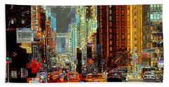 First Avenue - New York Ny Beach Towel