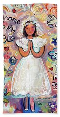 First Communion Girl Beach Towel