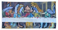 First Last Supper Beach Towel