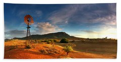 First Light On Wilpena Pound Beach Towel