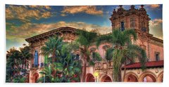 Beach Towel featuring the photograph First Morning Glow by Gary Holmes