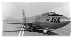 Beach Sheet featuring the photograph First Supersonic Aircraft, Bell X-1 by Science Source