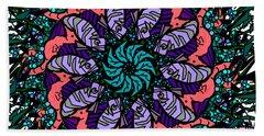 Beach Sheet featuring the digital art Fish / Seahorse #2 by Elizabeth McTaggart