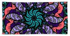 Beach Towel featuring the digital art Fish / Seahorse by Elizabeth McTaggart