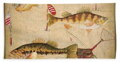Fish Trio-a-basket Weave Border Beach Towel