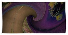 Beach Towel featuring the digital art Fish World 2 by Andrew Drozdowicz