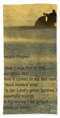 Fisherman's Prayer Beach Sheet by Robert Frederick