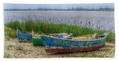 Beach Sheet featuring the photograph Fishing Boats by Hanny Heim