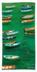 Fishing Boats In Vernazza Beach Sheet