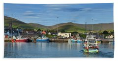 Fishing Harbour In Dingle Town, Dingle Beach Towel