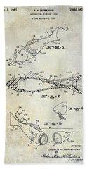 Fishing Lure Patent 1959 Beach Towel by Jon Neidert