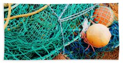 Fishing Nets And Floats Beach Towel by Jane McIlroy