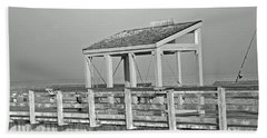 Fishing Pier Beach Sheet by Tikvah's Hope
