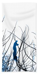 Beach Towel featuring the photograph Fishing The River Blue by Robyn King
