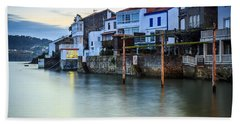 Fishing Town Of Redes Galicia Spain Beach Towel