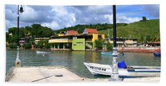 Fishing Village Puerto Rico Beach Sheet