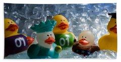Five Ducks In A Row Beach Sheet