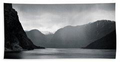 Fjord Rain Beach Towel