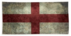 Flag Of England St Georges Cross Vintage Version To Scale Beach Towel