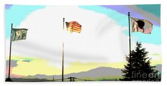 Flags Of Camp Zama 5 Beach Towel