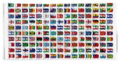 Flags Of The World Beach Sheet