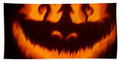 Flame Pumpkin Beach Towel