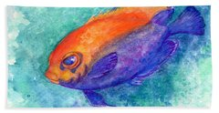Flameback Angelfish Beach Towel