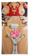 Flamenco Of Fertility  Beach Towel