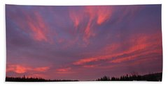Flaming Morning Sky Beach Towel
