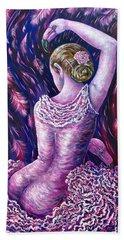 Flamingo Dancer Beach Towel by Gail Butler